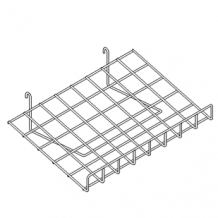 Grid Slanted Shelf w/lip