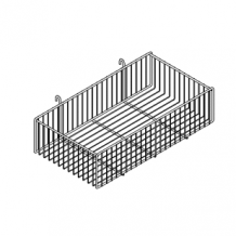 "Grid Large Basket 6""h"