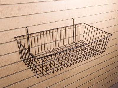 "Slatwall Large Basket 6""h"
