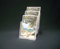 "Counter Brochure Holder 6"" Triple Tier"
