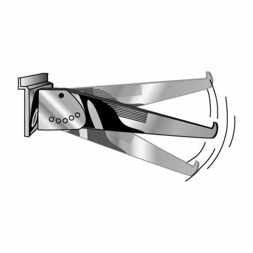 Slatwall Adj Shelf Bracket 14""