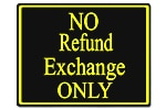 Policy Card - No Refund Exchange Only