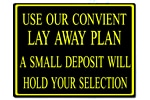 Policy Card - Lay Away