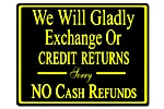 Policy Card - No Cash Refund