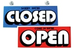 Open (Red)/ Closed (Blue)