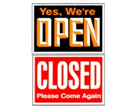 Yes, we're Open / Closed