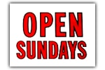 Open Sundays Sign
