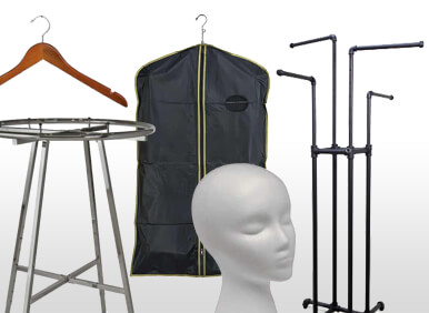 Clothing Display - Racks, Hangers & Accessories